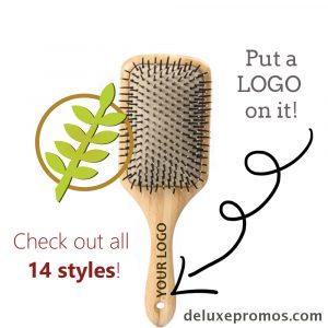 bamboo hairbrush promotional product
