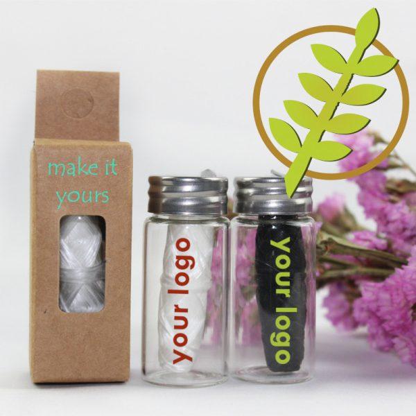 custom dental floss with reusable jar