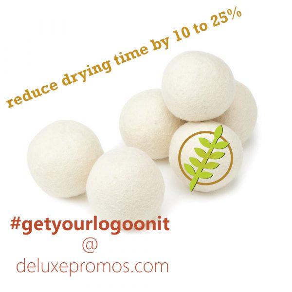 white wool dryer balls